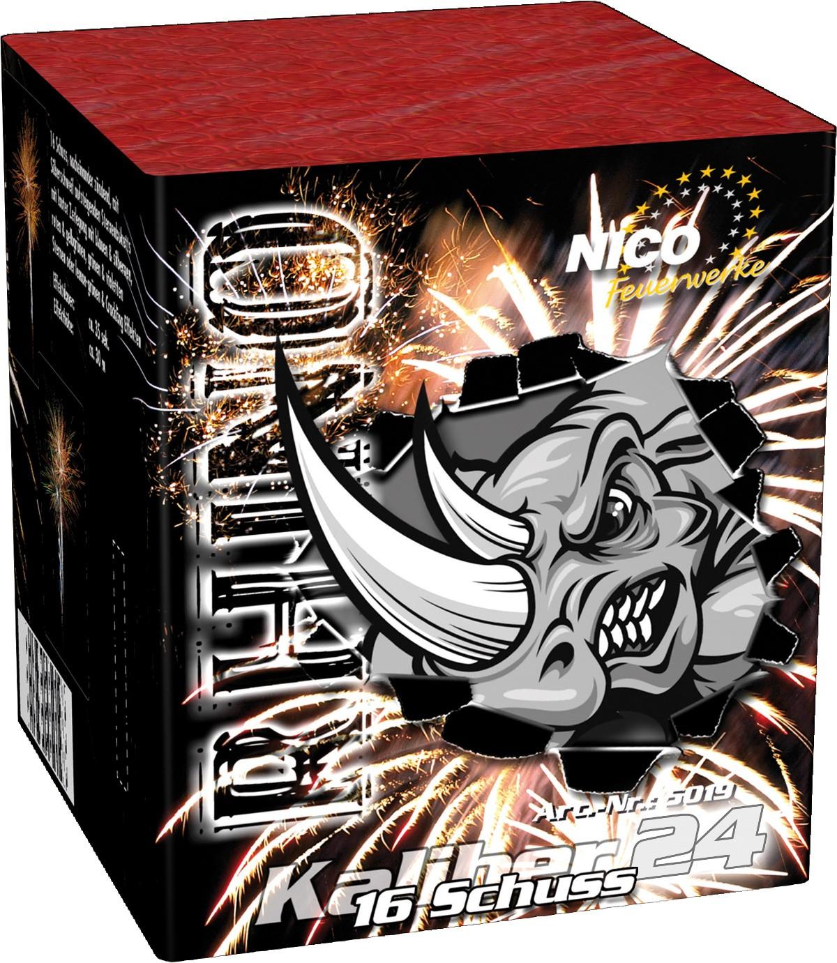 Feuerwerk Batterie Rhino 16 Schuss