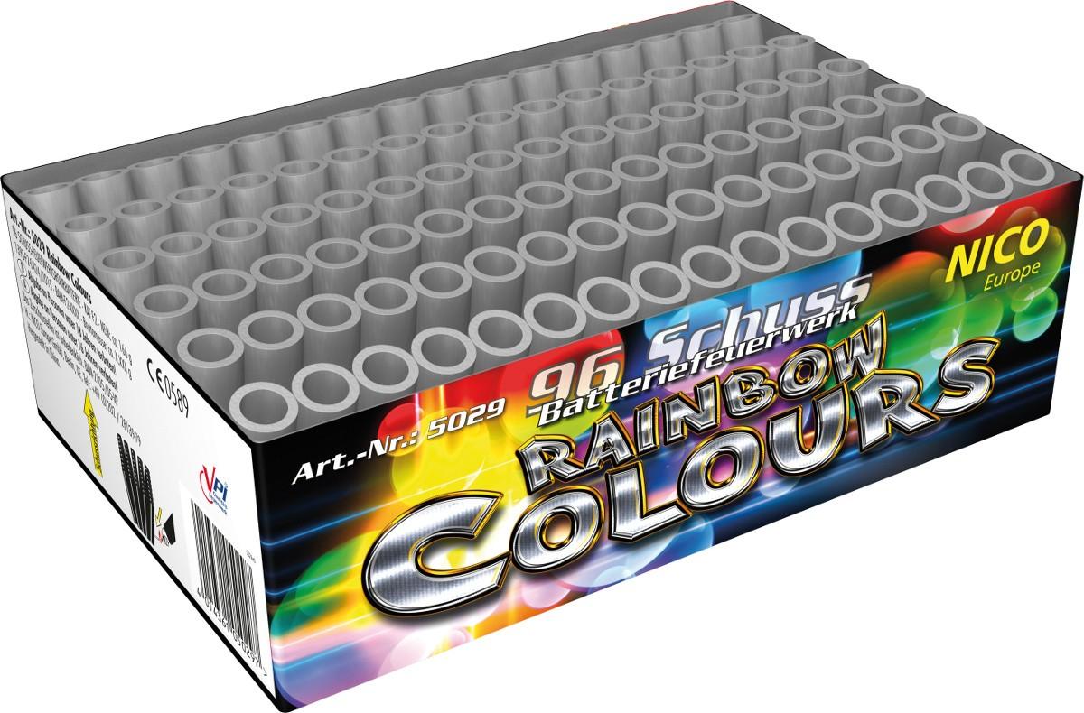 Batterie feuerwerk 96 Schuss Rainbow Colors