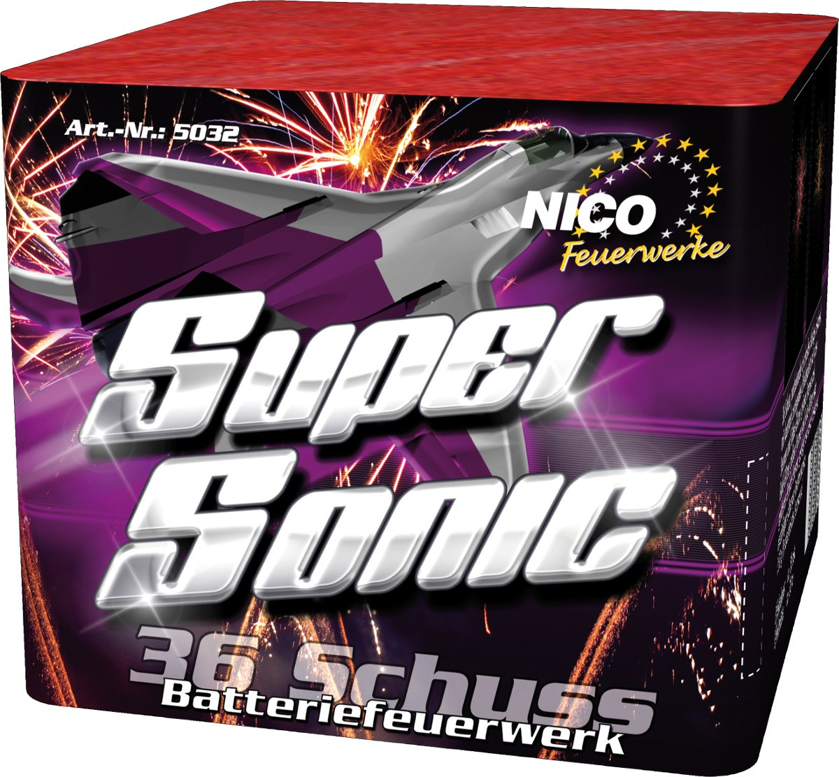 Batterie Super Sonic Feuerwerk 36 Schuss