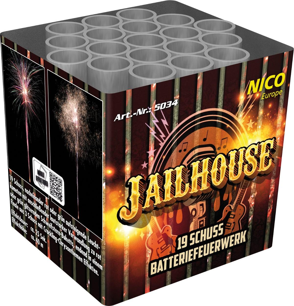 Batterie Feuerwerk Jailhouse 19 Schuss