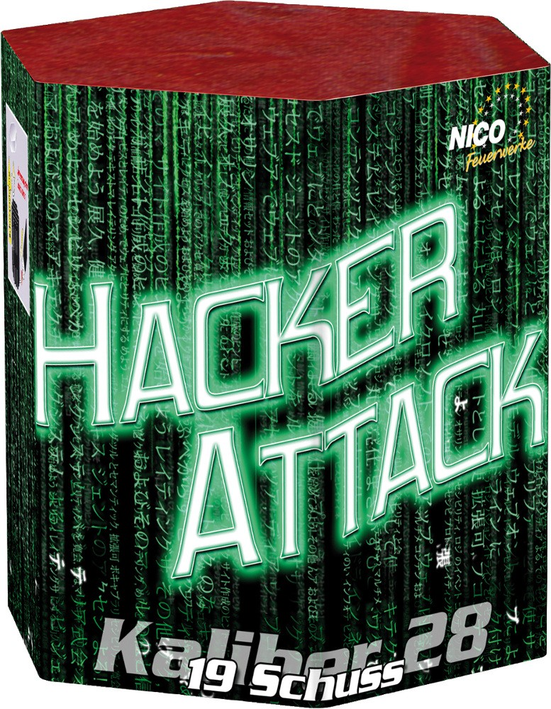 Feuerwerk Hacker Attack Batterie 19 Schuss