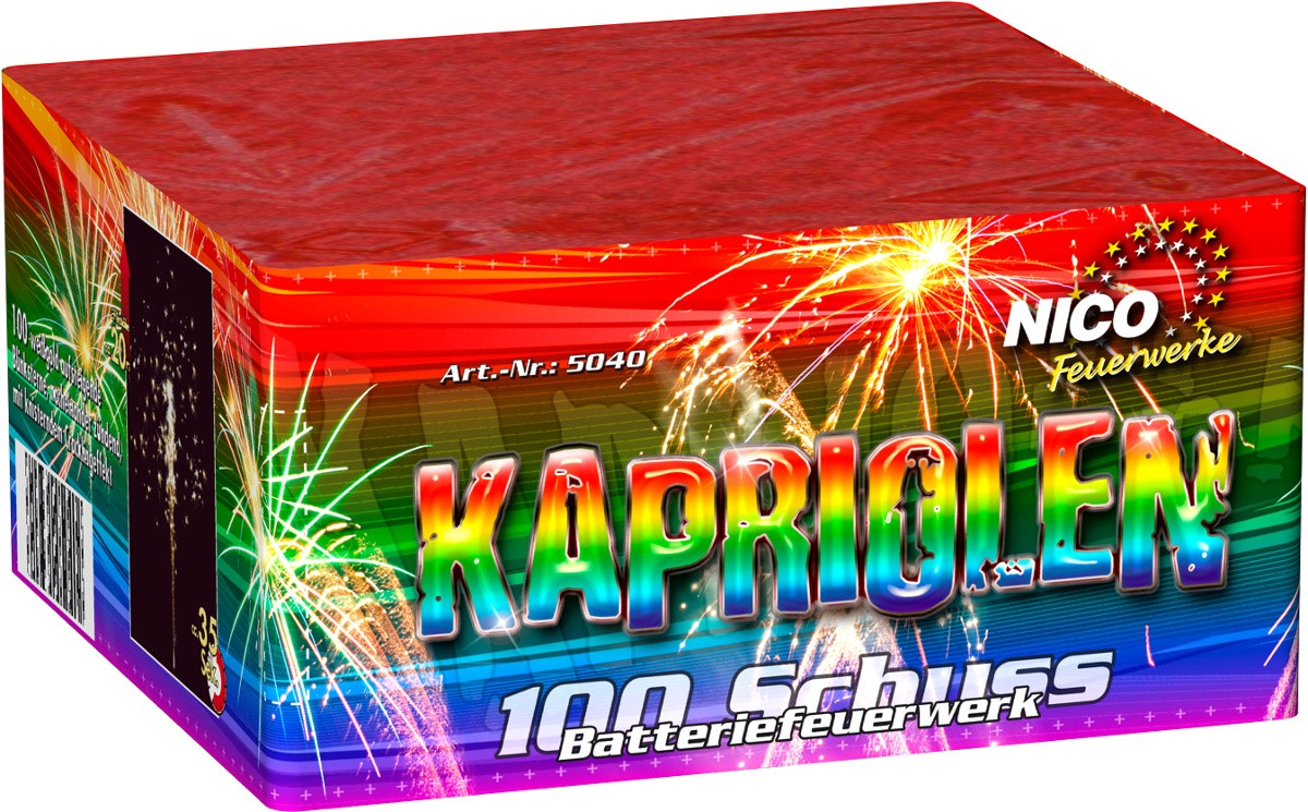 Feuerwerk Batterie Kapriolen 100 Schuss