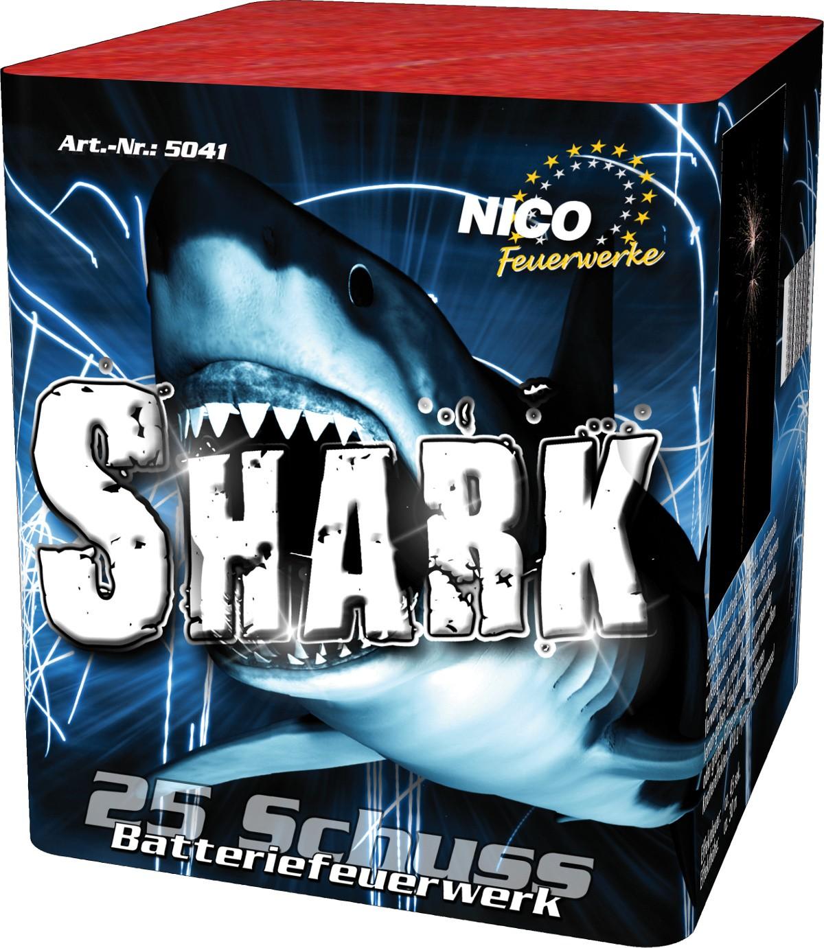 Batteriefeuerwerk Shark 25 Schuss