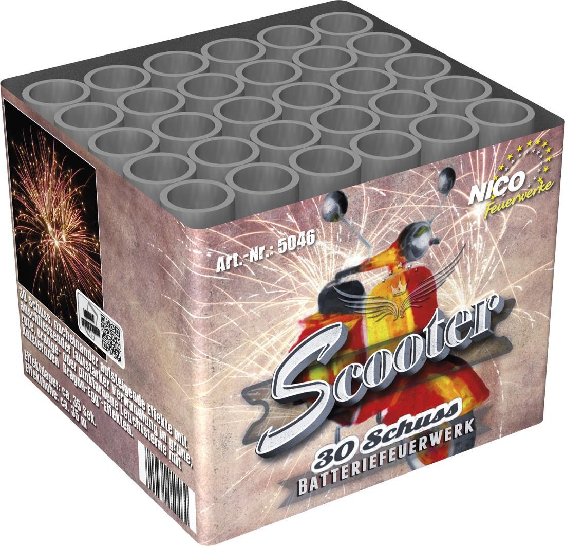 Feuerwerk Batterie Scooter 30 Schuss