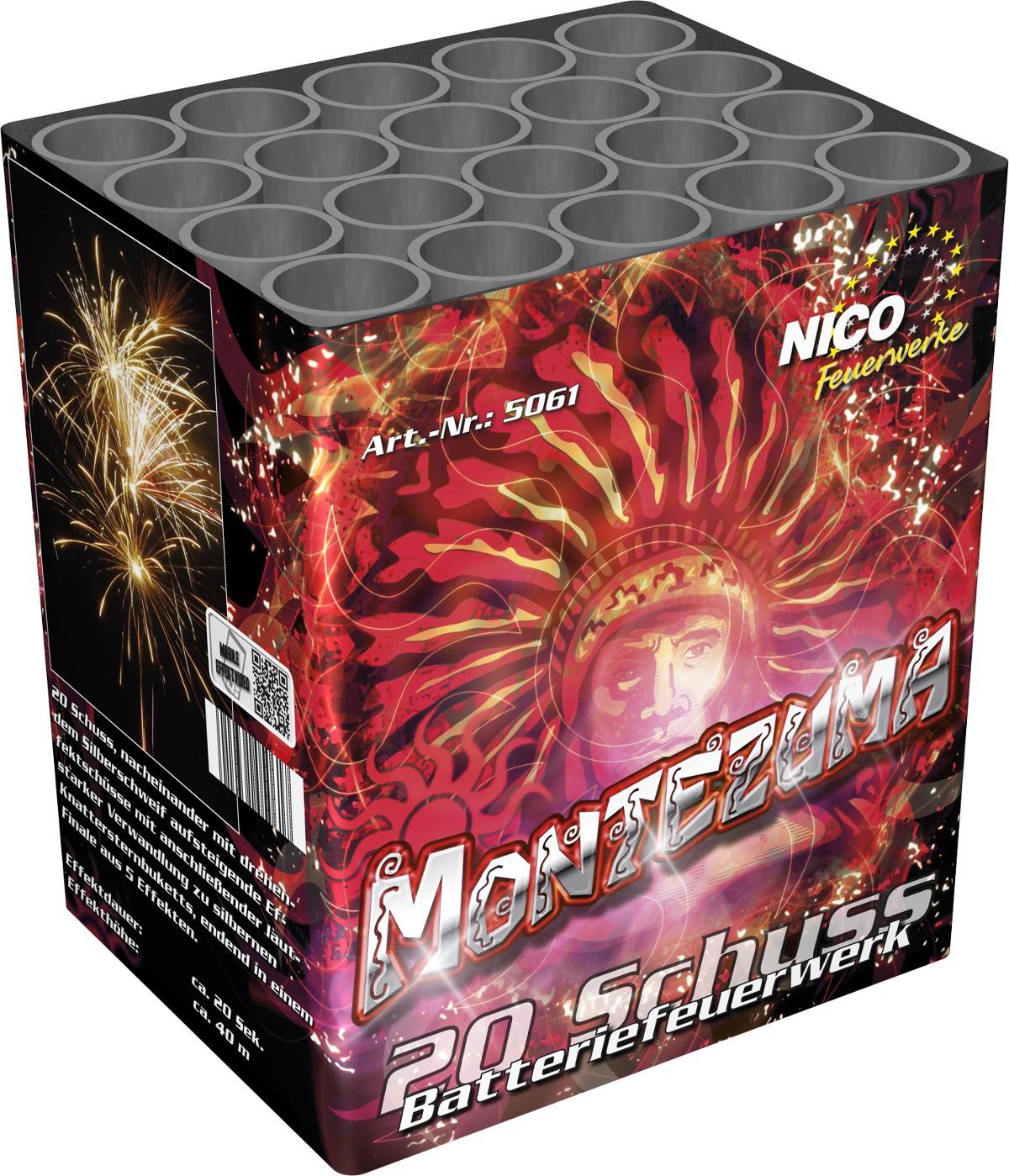 Feuerwerk Batterie Montezuma 20 Schuss