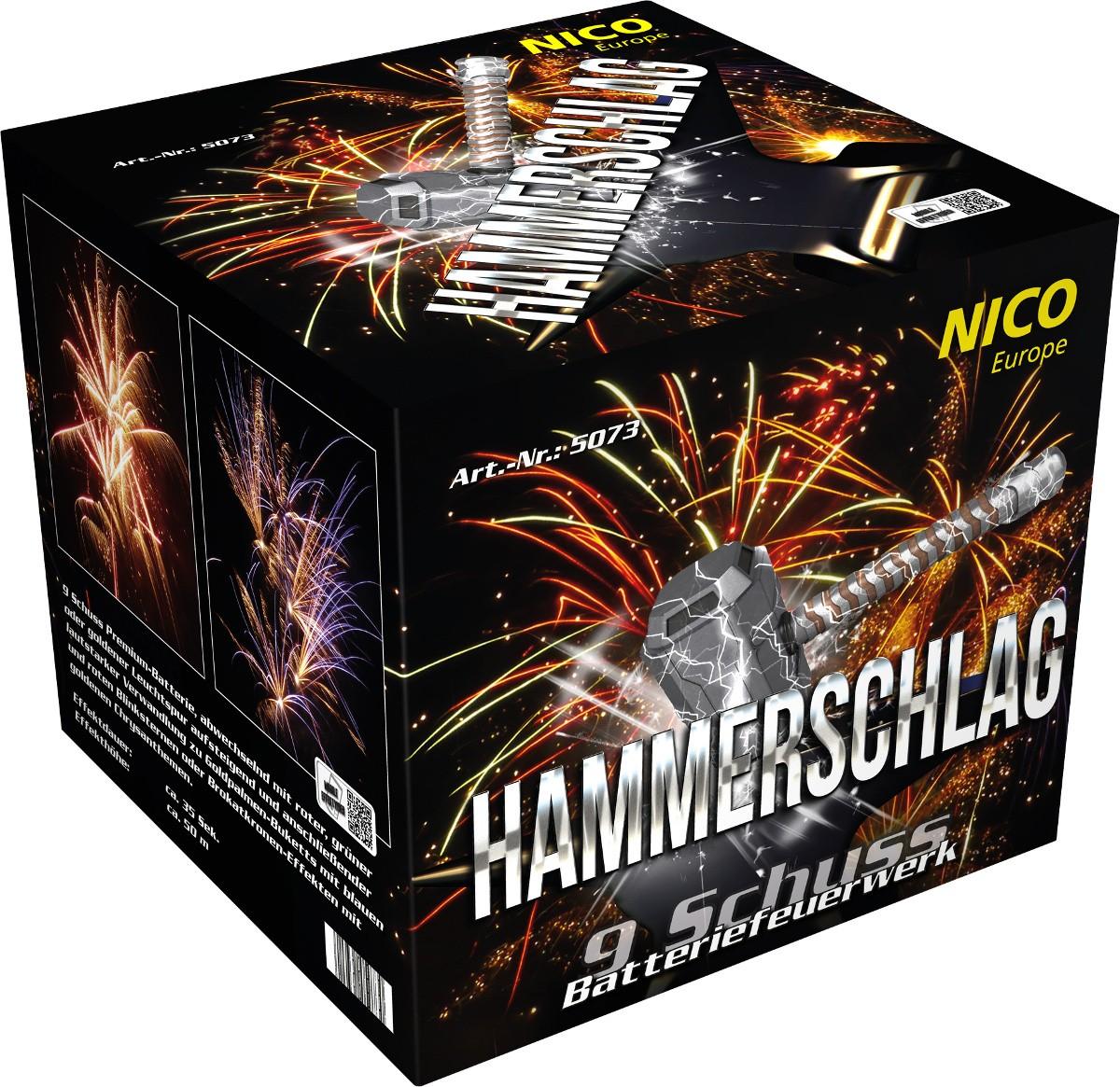 Feuerwerk Batterie Hammerschlag 9 Schuss