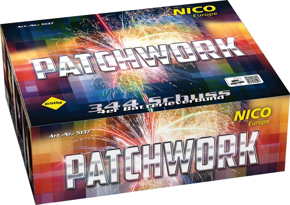 Feuerwerk Batterie Patchwork 344 Schuss