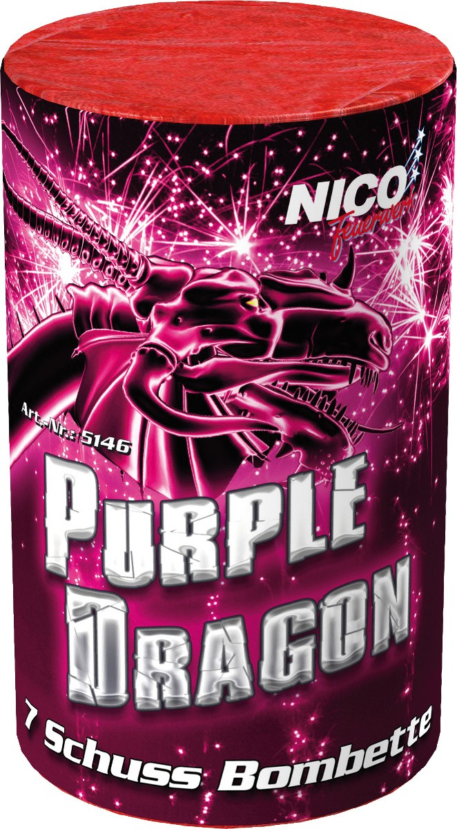 Feuerwerk Batterie Purple Dragon 7 Schuss