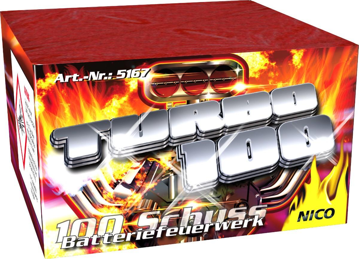 Turbo Feuerwerk Batterie 100 Schuss