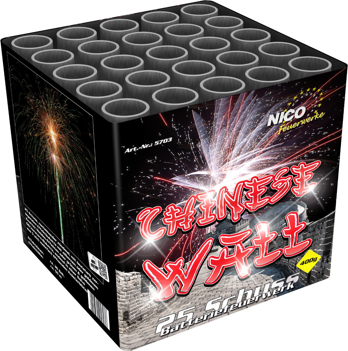 Batterie Feuerwerk Chinese Wall 25 Schuss