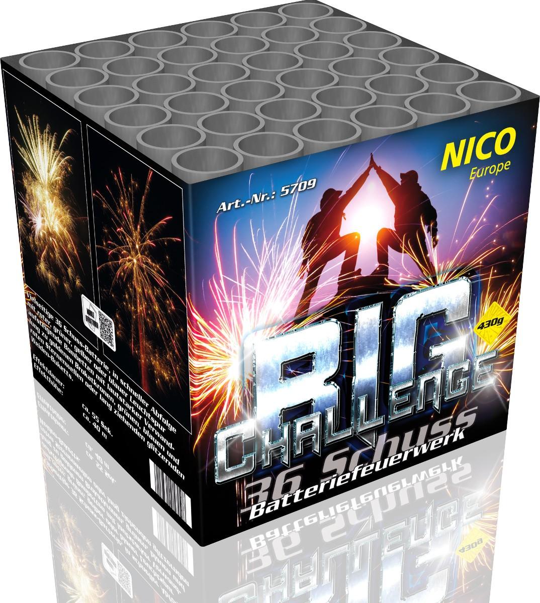 Feuerwerk Batterie Big Challenge 36 Schuss