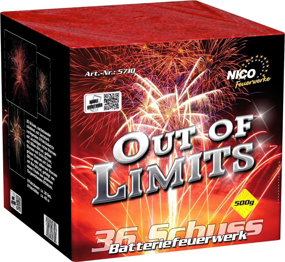 Batterie Feuerwerk Out of Limits 36 Schuss
