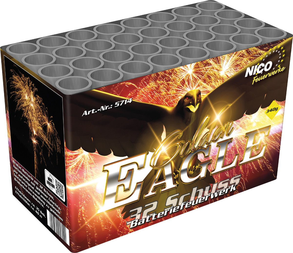 Golden Eagle Feuerwerk Batterie 32 Schuss