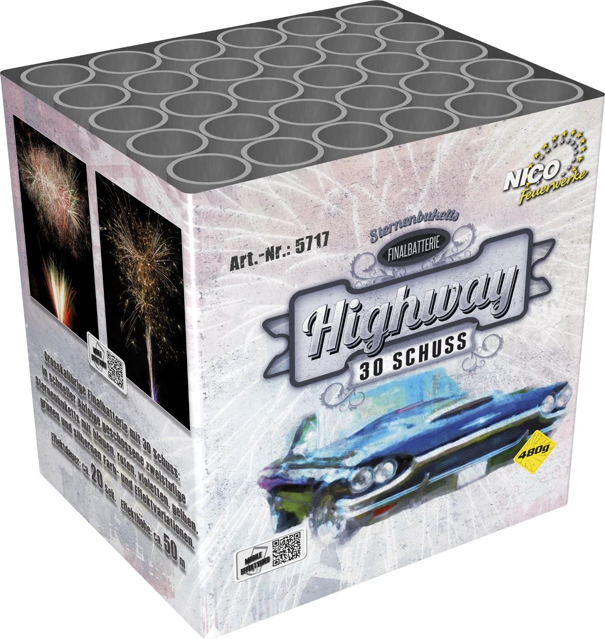 Feuerwerk Batterie Highway 30 Schuss