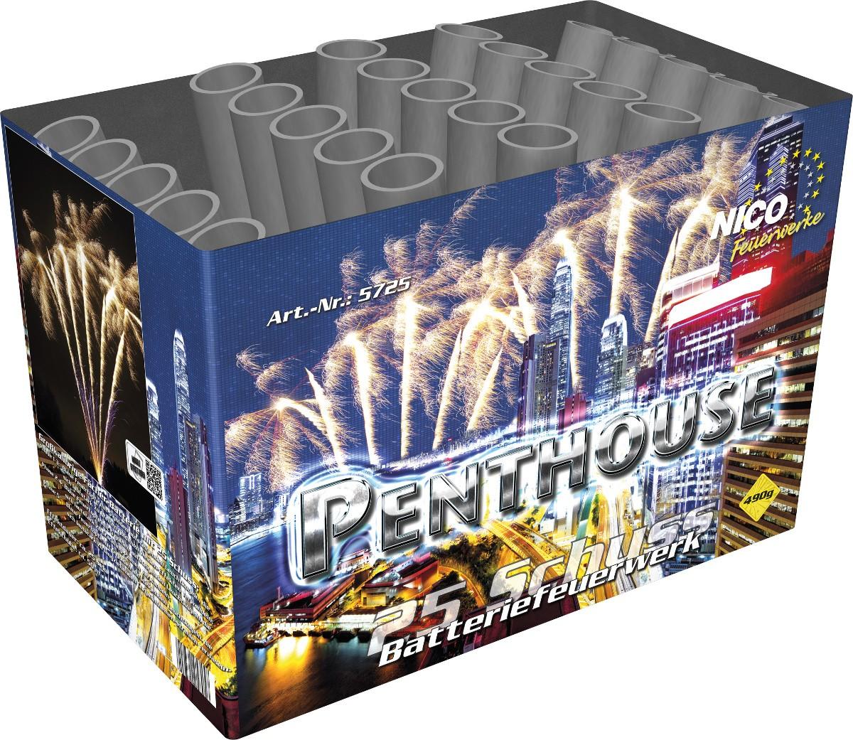 Batteriefeuerwerk Penthouse 25 Schuss