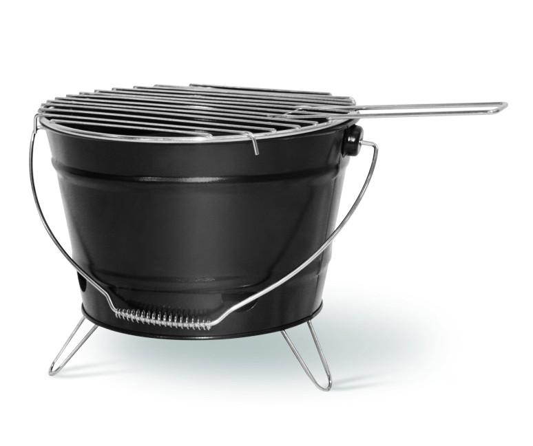 Grilleimer mit verchromten Grillrost 27 cm Ø Grillfläche
