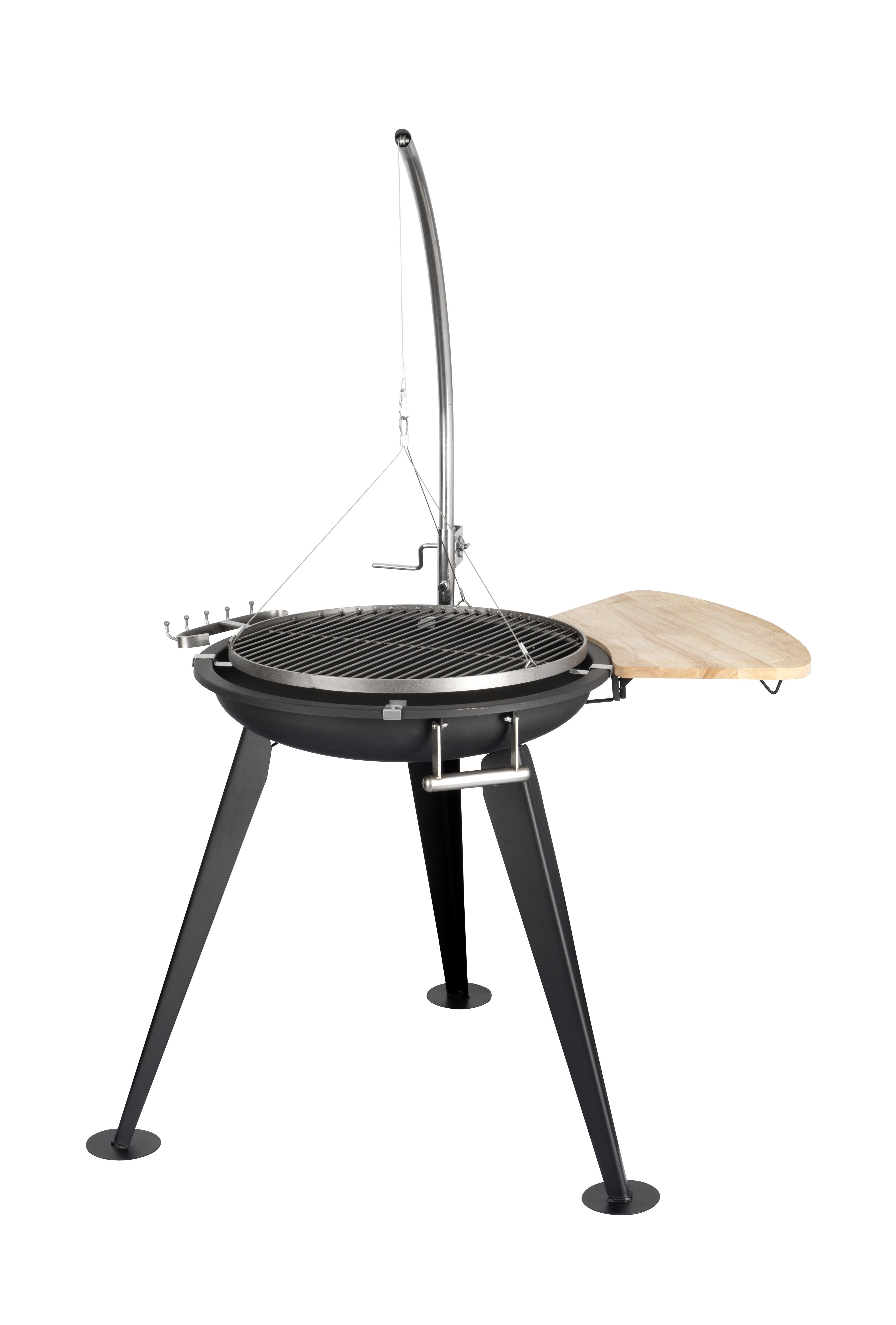 Edelstahl Design Holzkohle Schwenkgrill, 54cm Grillfläche