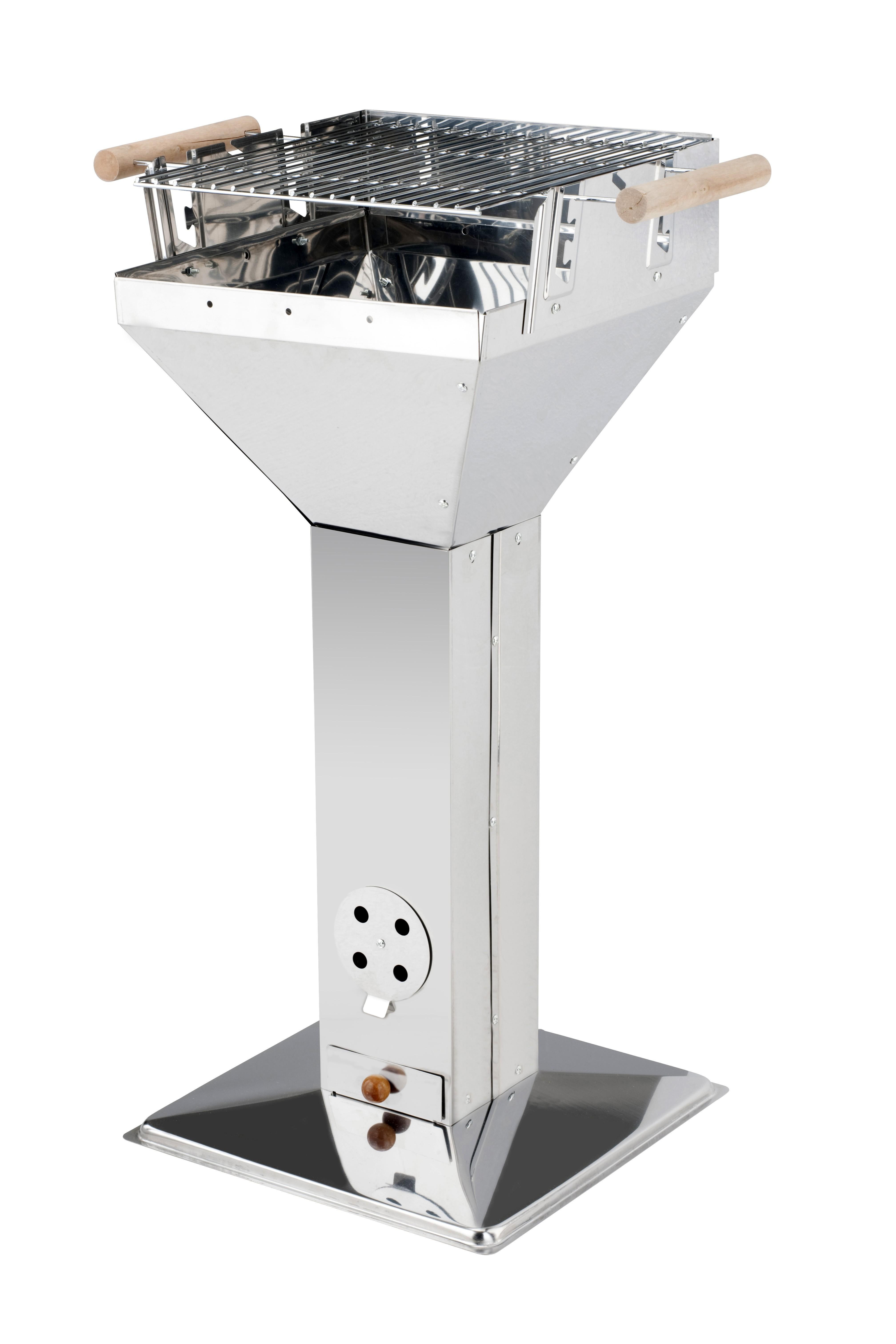 Edelstahl-Trichtergrill SAALFELD 36x36 cm Grillfläche 36x36