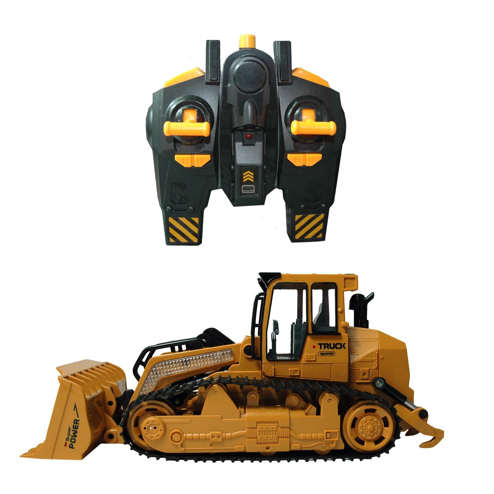 Bulldozer, Raupe mit kbelloser Fernbedienung sowie Licht und Sound