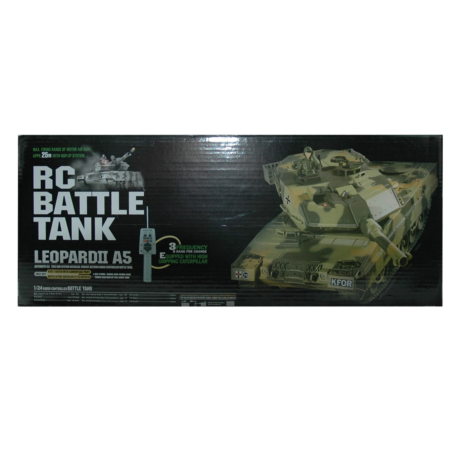 """RC Panzer """"Leopard II A5"""" 1:24 mit Fernbedienung"""