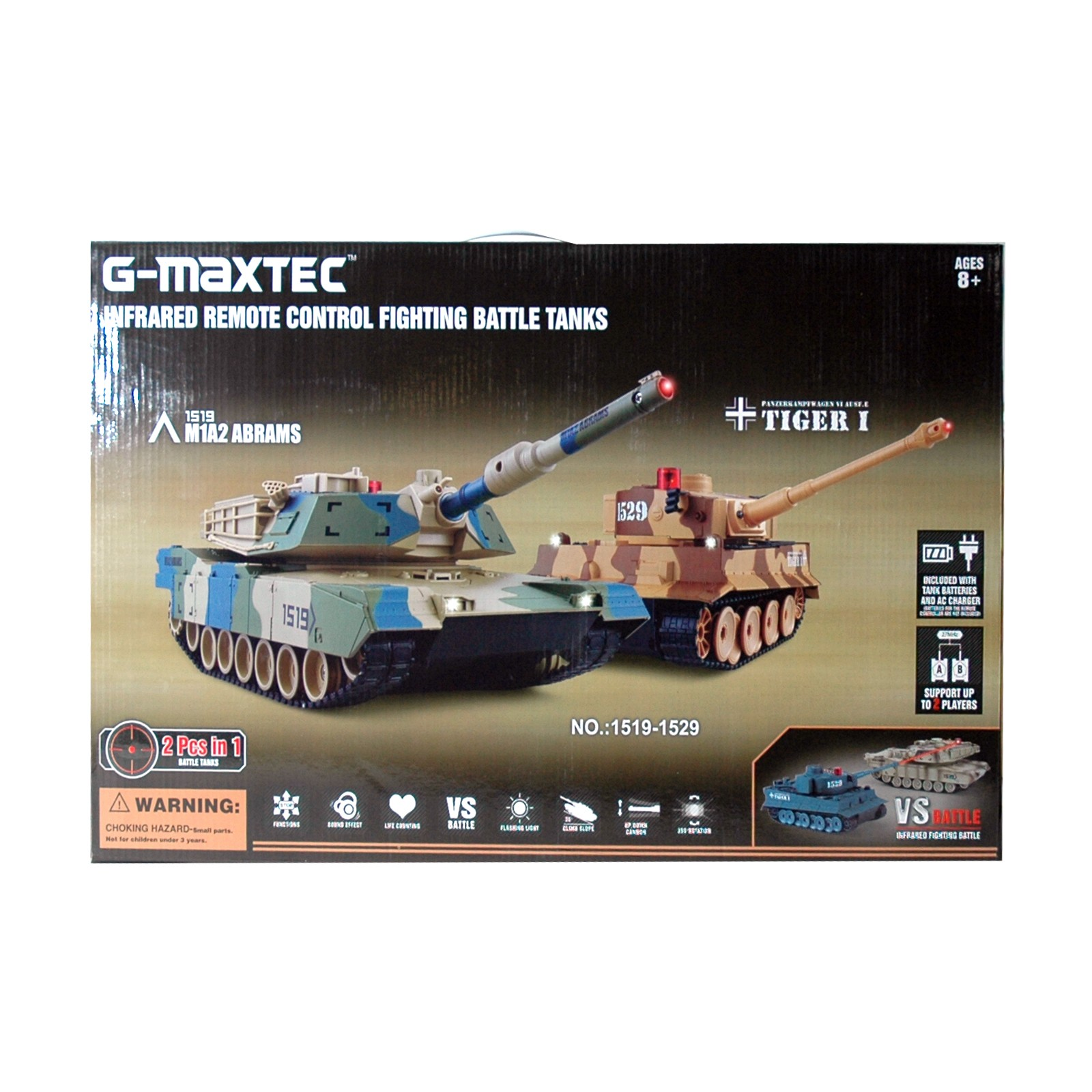 RC Battle-Set Panzer Tank 1:14 mit 2 Fernbedienungen