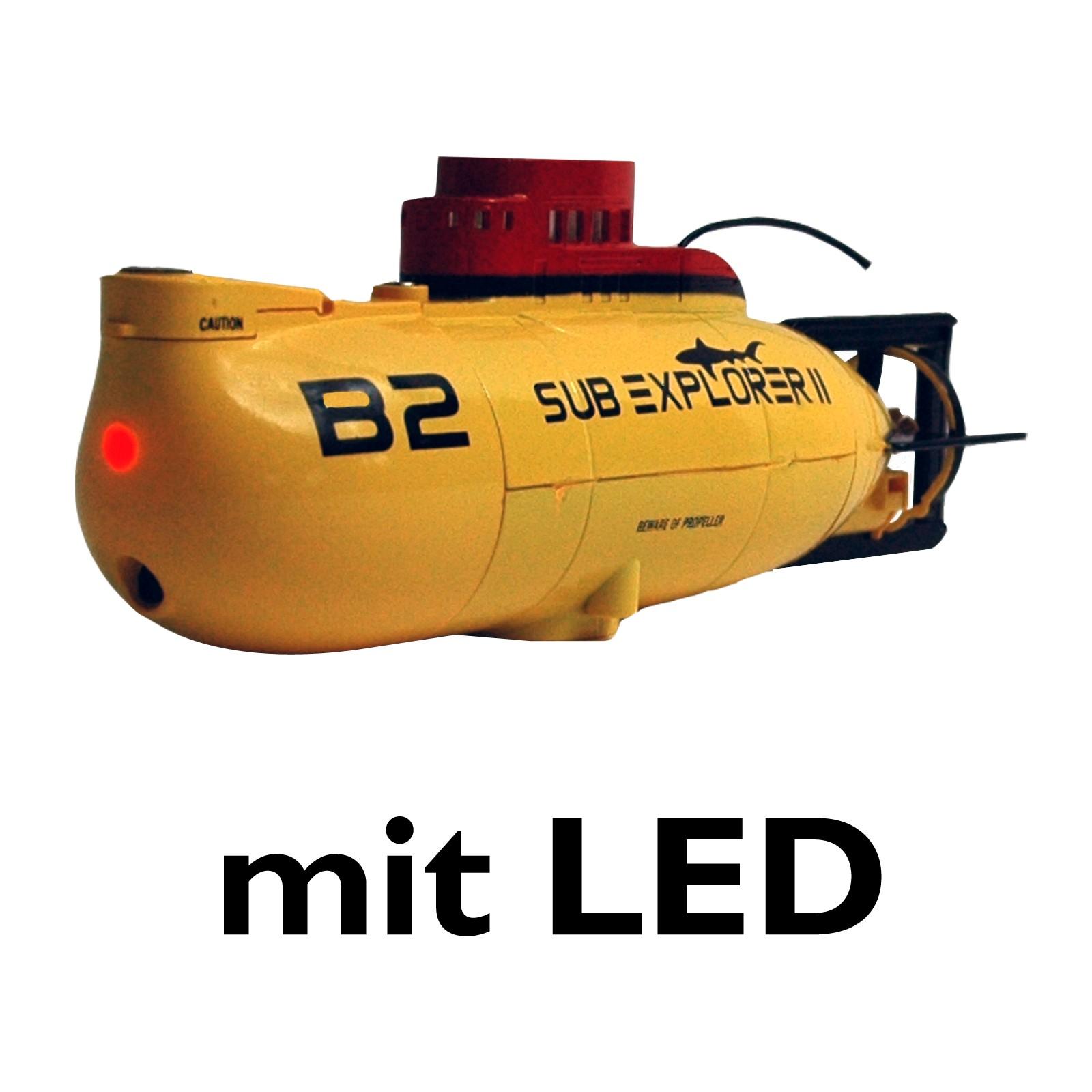 U-Boot ferngesteuert Sub Explorer II mit 3 Motoren 3 Kanal Fernbedienung LED