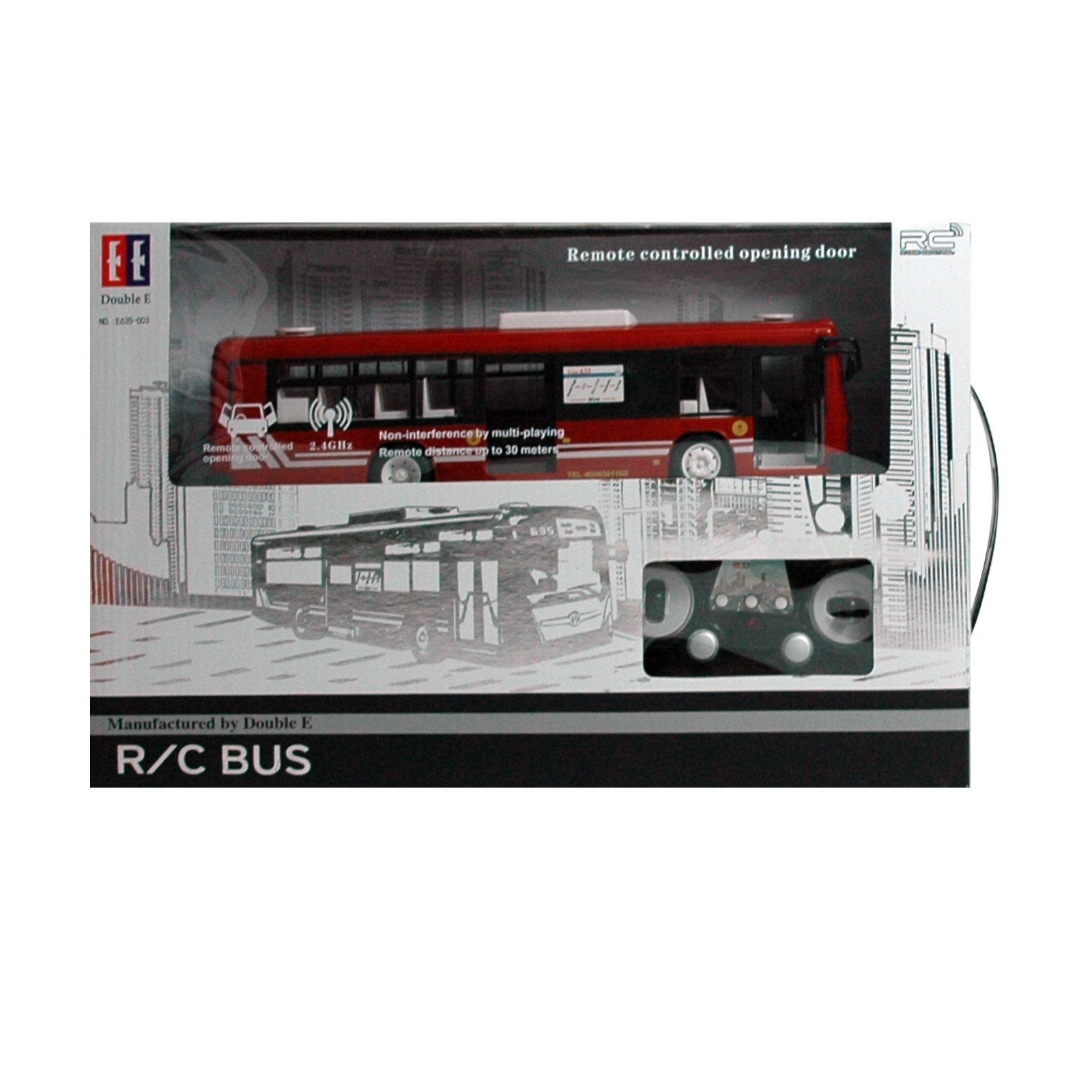 RC DOUBLE EAGLE, rot ferngesteuerter Linien Bus