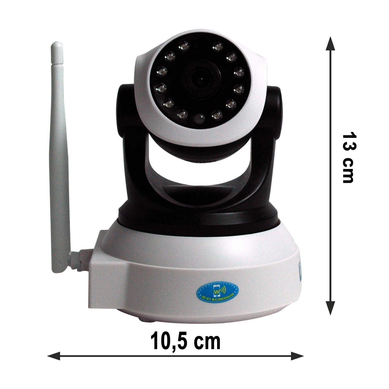 Wireless HD Indoor IP Camera, Infrarotsensor, komplett mit Zubehör