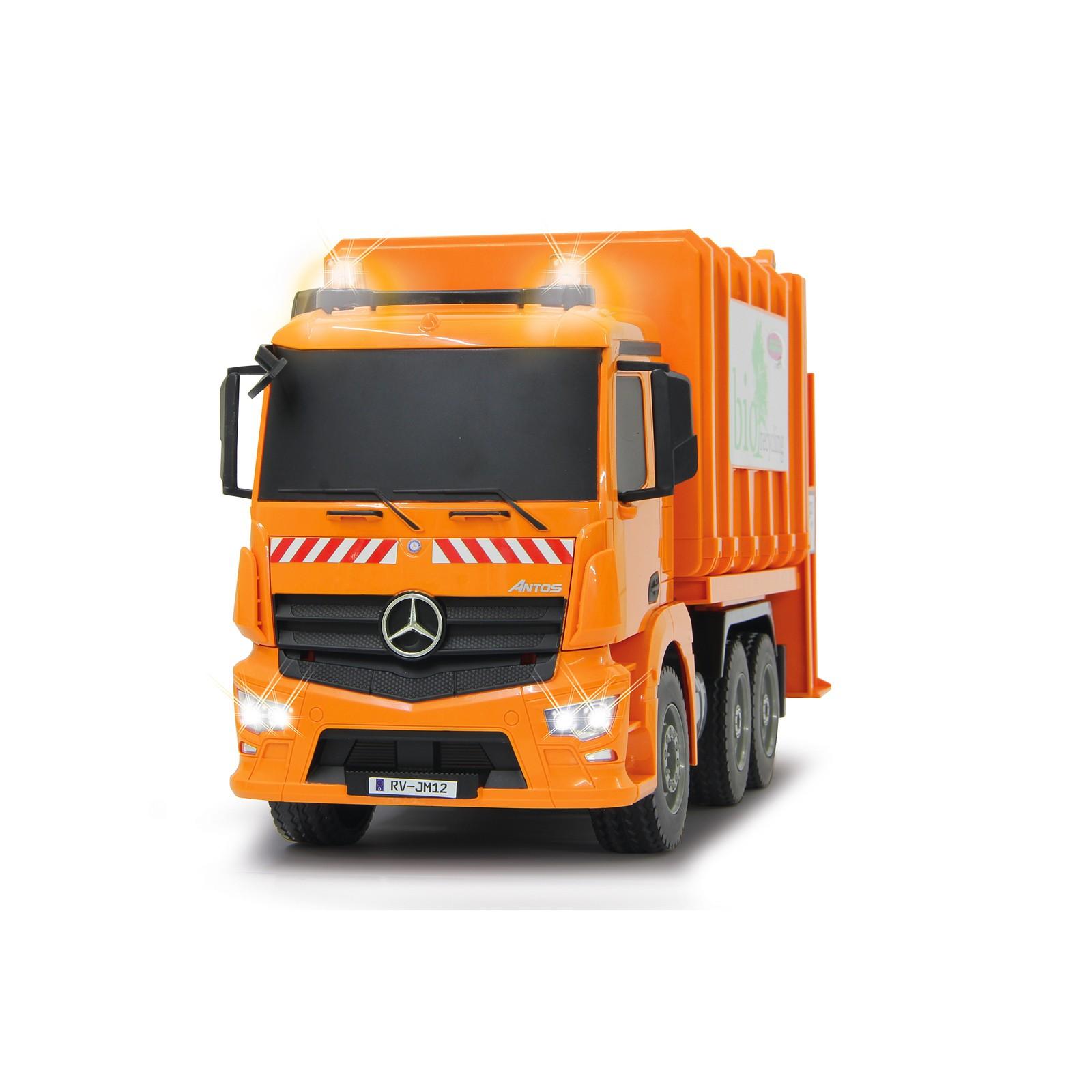 Ferngesteuerter Müllwagen Mercedes Maßstab 1:20