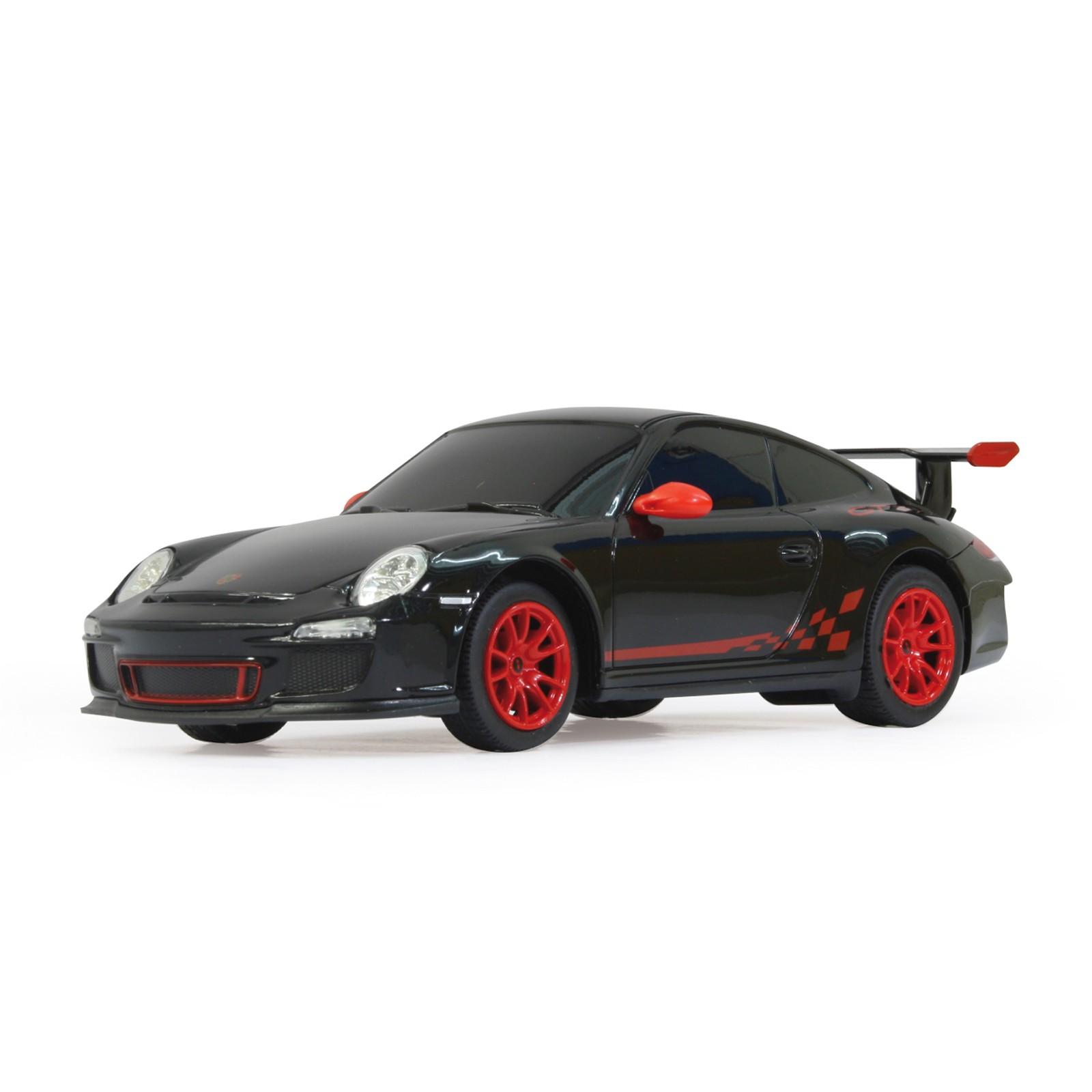 RC Porsche GT3, schwarz LED Beleuchtung  Maßstab 1:24