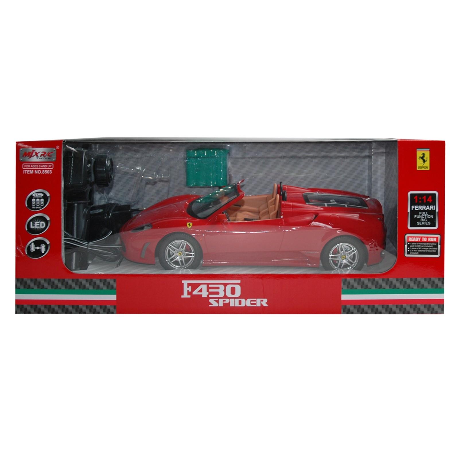 RC Ferrari F430 Spider, rot mit Fernbedienung und LED Schweinwerfern