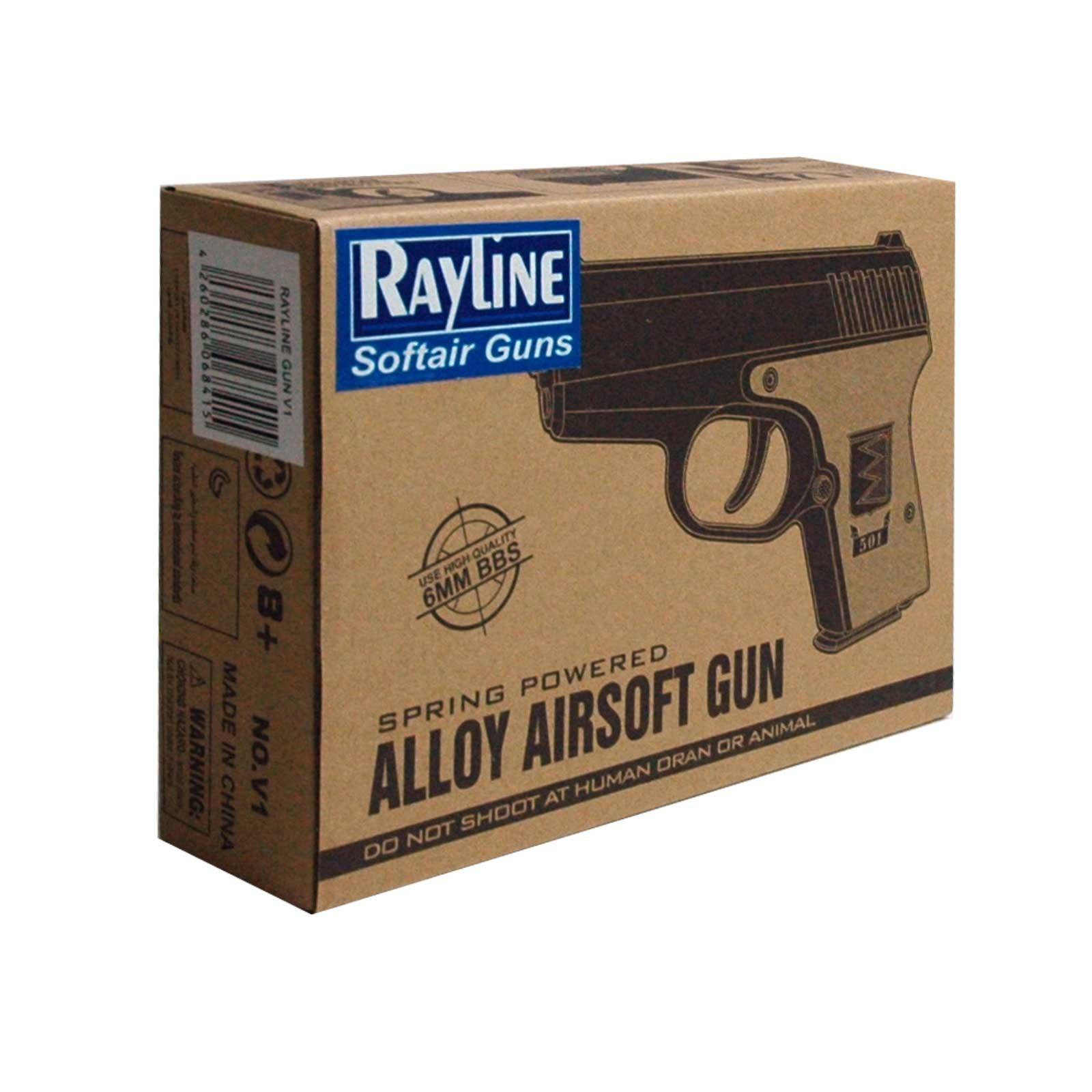 Softair/ Airsoft Pistole gefertigt aus Metall 0,5 Joule Reichweite bis 60 Meter