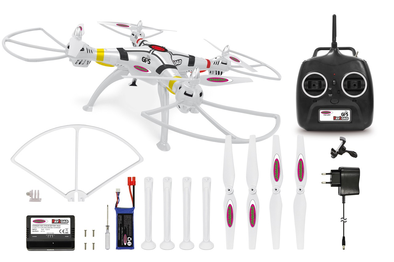 GPS AHP+ 2,4 GHz Quadrocopter PAYLOAD GPS 4+6 Kanal