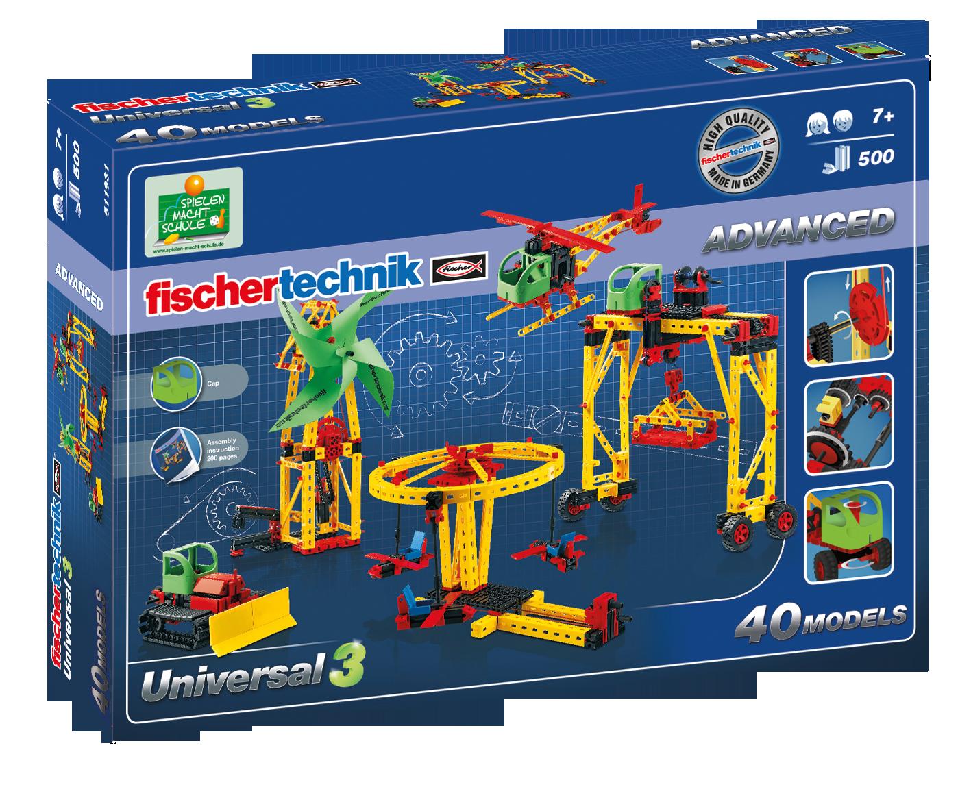 Advanced Universal 3 Bausatz 500 Teile Fischertechnik