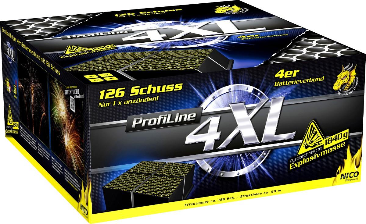 Profiline Batterie Feuerwerk 4XL 126 Schuss