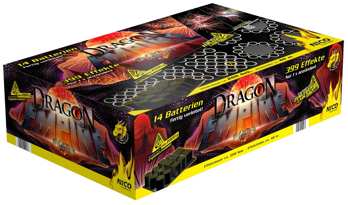 Batterie Dragon Empire 399 Schuss