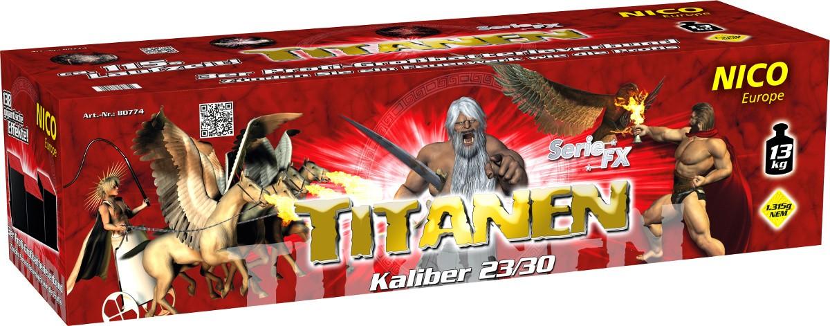 Feuerwerk Batterie Titanen 138 Schuss