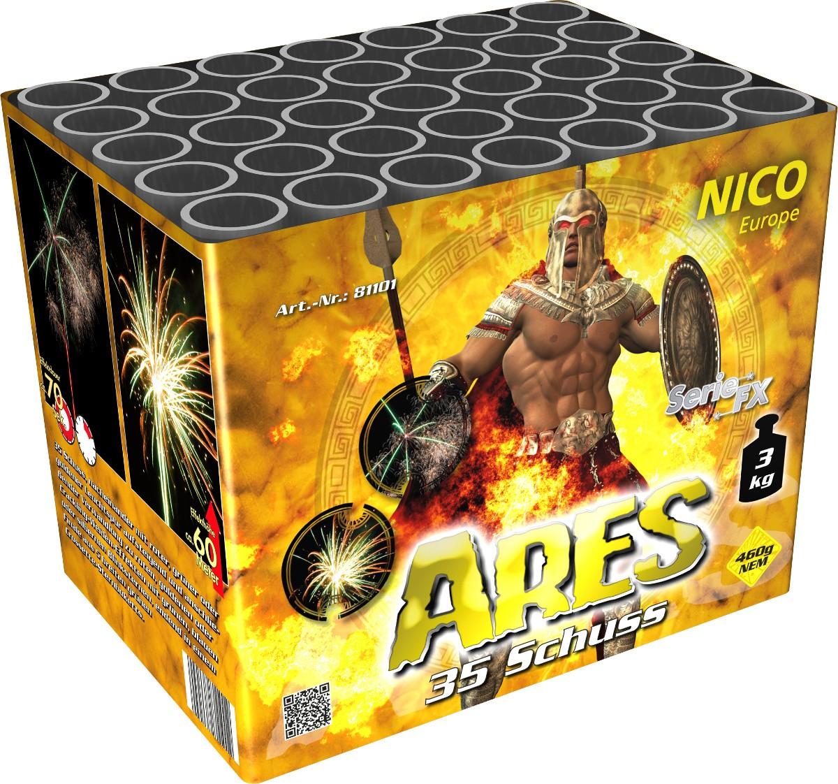 Feuerwerk Batterie 35 Schuss Ares