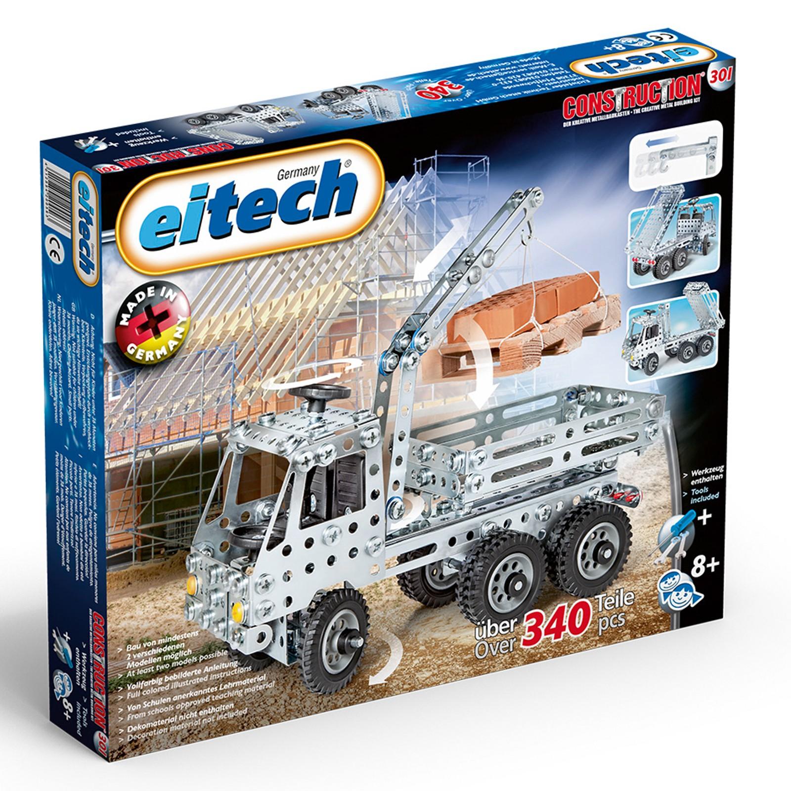 EITECH Metallbaukasten LKW mit Kipper & Ladekran