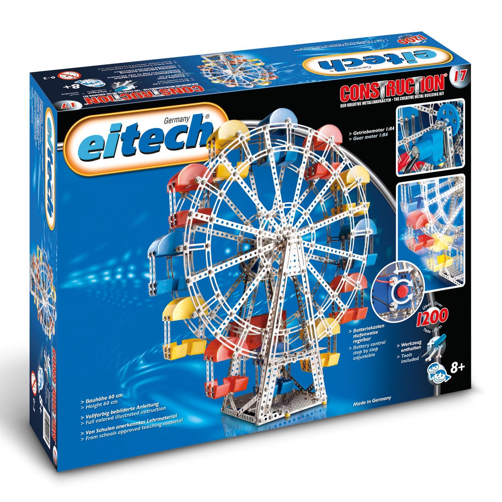 EITECH Metallbaukasten Riesenrad mit Getriebemotor 60cm hoch