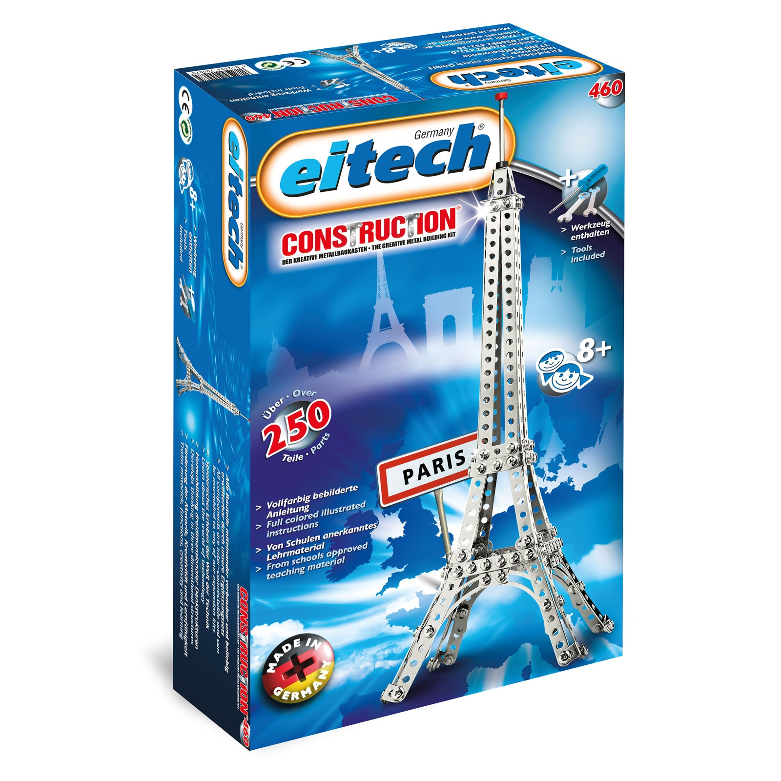 EITECH Metallbaukasten Eiffelturm 45cm hoch