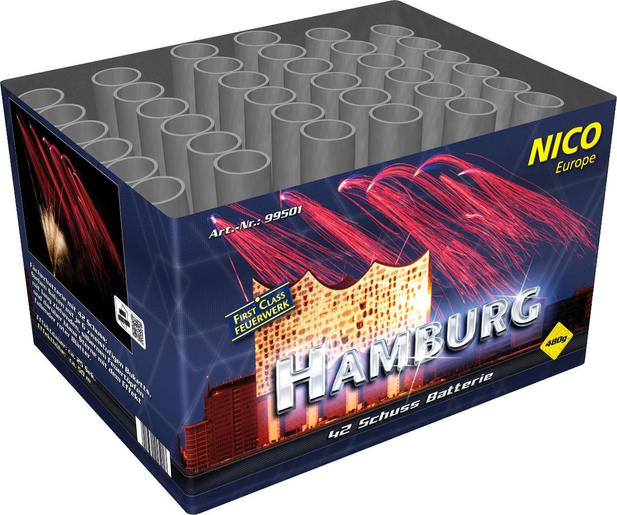 Feuerwerksbatterie 42 Schuss Hamburg