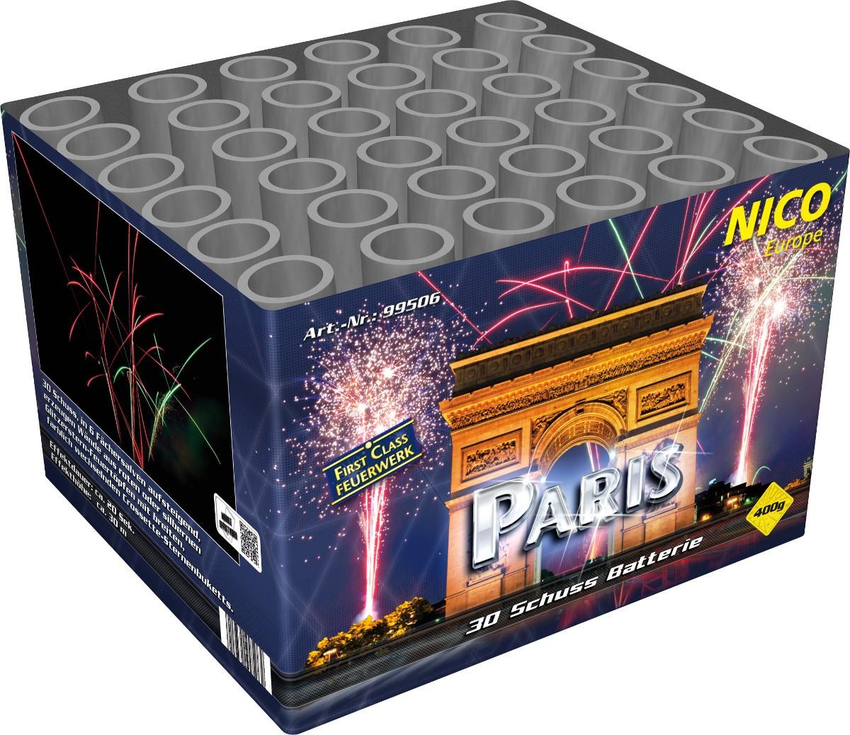 Batteriefeuerwerk 30 Schuss Paris