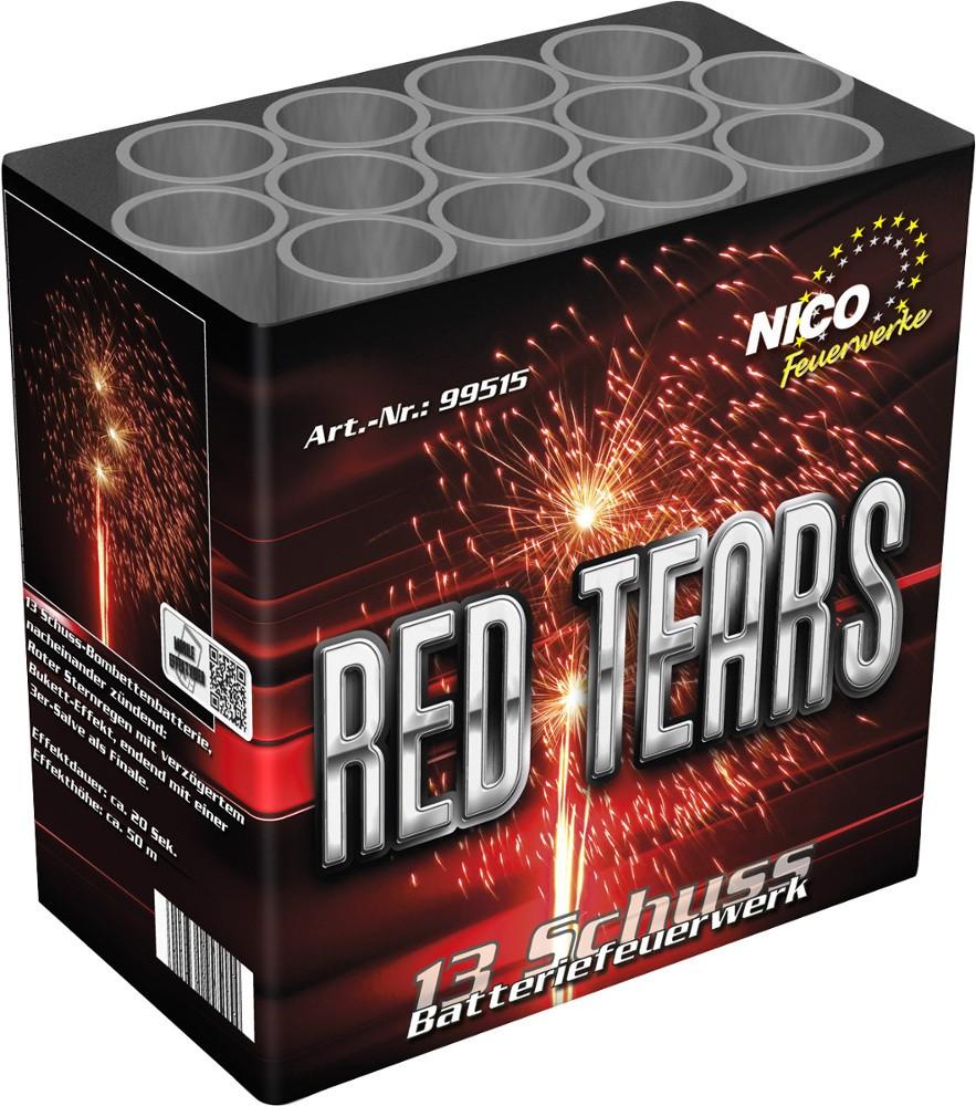 Feuerwerk Batterie Red Tears 13 Schuss