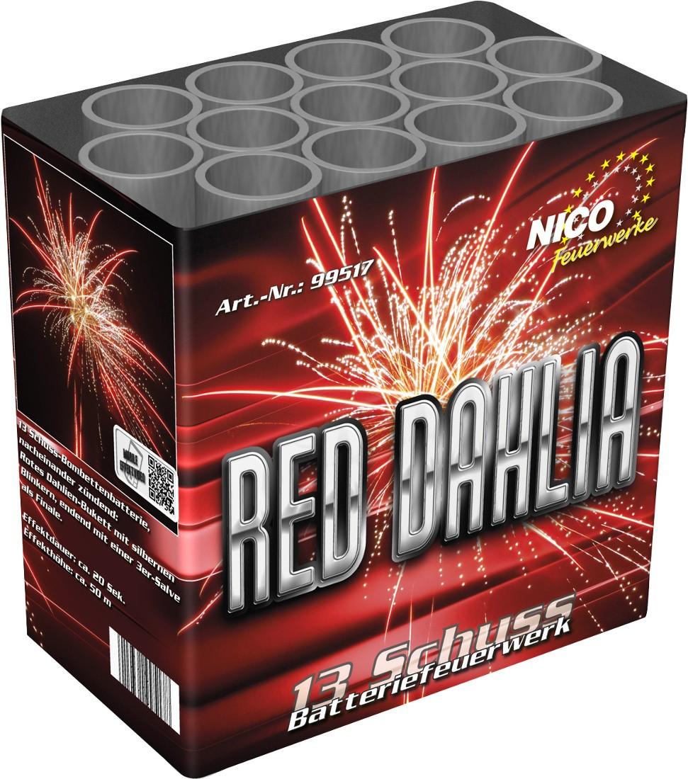Batterie Feuerwerk Red Dahlia 13 Schuss