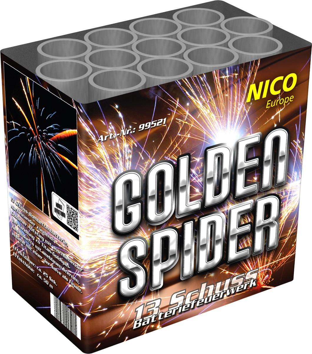 Feuerwerk Batterie Golden Spieder 13 Schuss