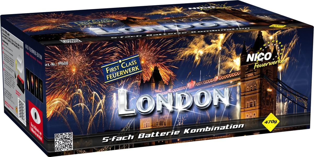 Feuerwerk Batterie London 126 Schuss