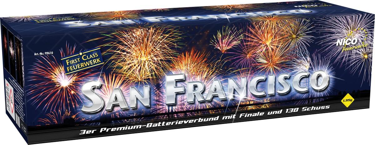 Batterie Feuerwerk San Francisco 138 Schuss