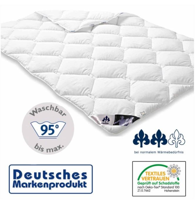 4 Jahreszeiten Bettdecke - 135x200 Polyester kochfest Microfaser Bezug