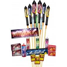 Airbag Raketen Feuerwerk Mix